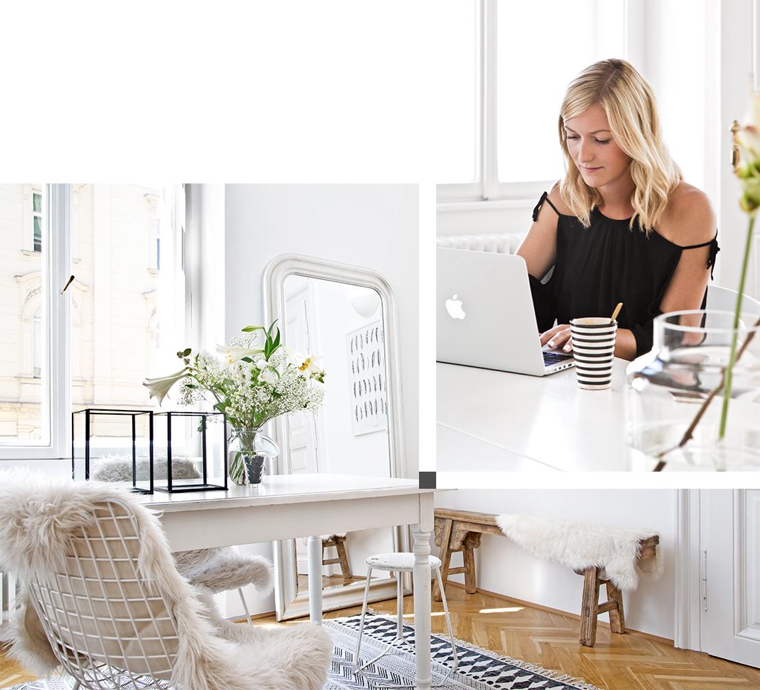 escritorio en casa nórdico