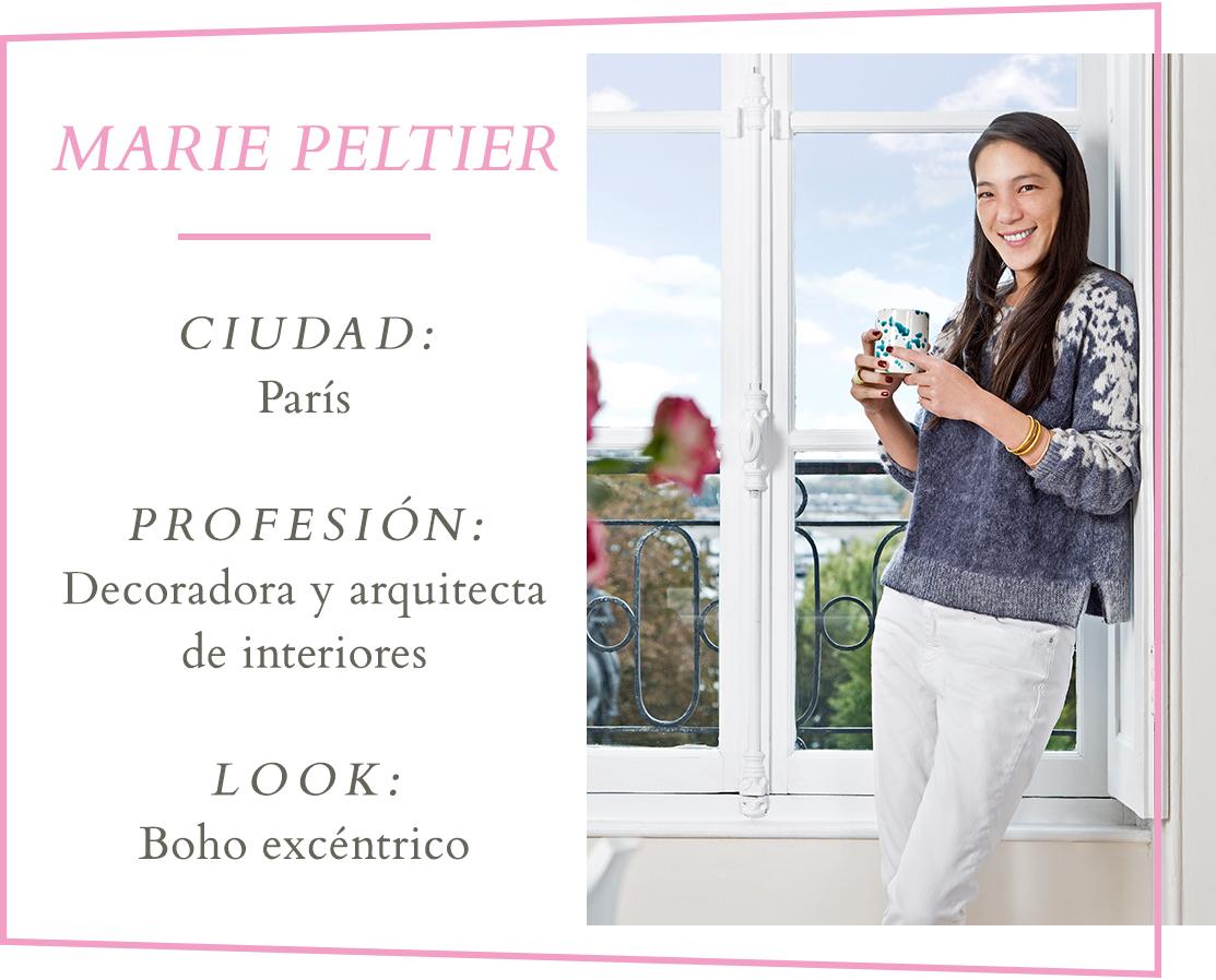 Marie Peltier diseñadora de interiores