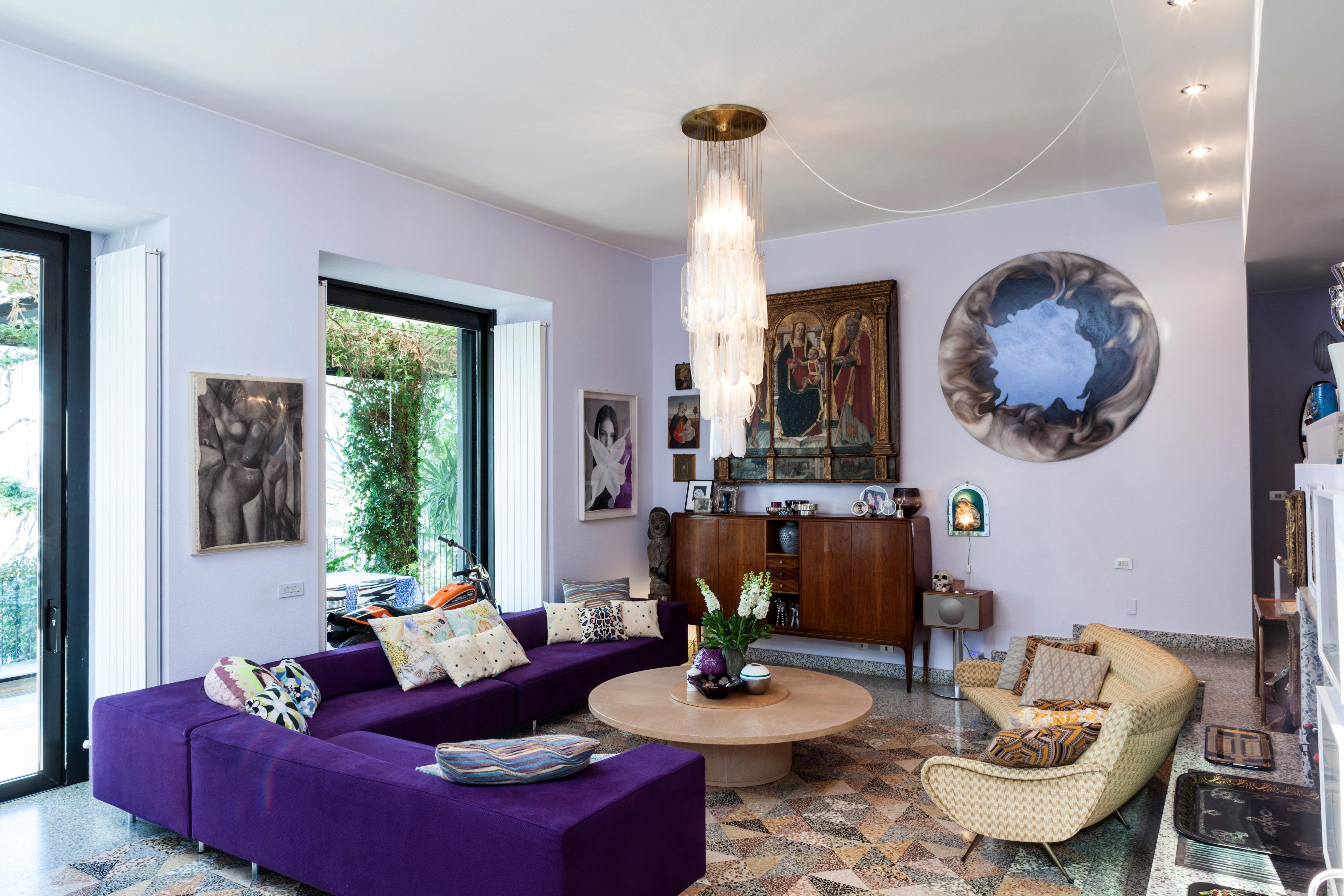 Salón de la casa de Margherita Missoni