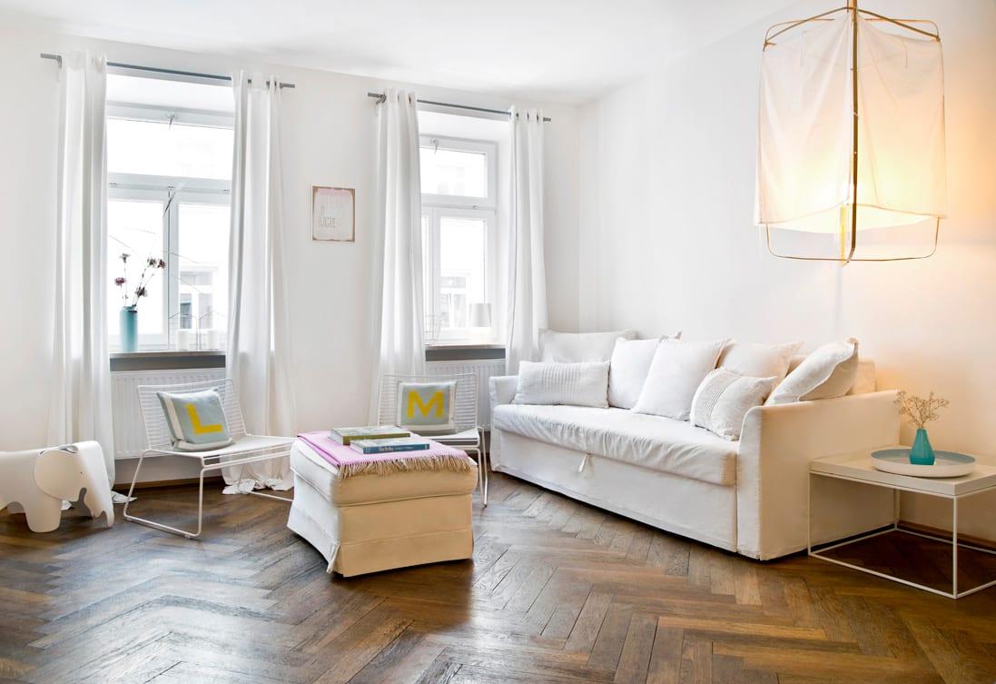 salón depurado y blanco total