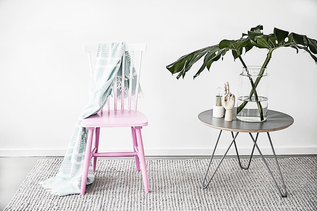 silla con efecto degradado