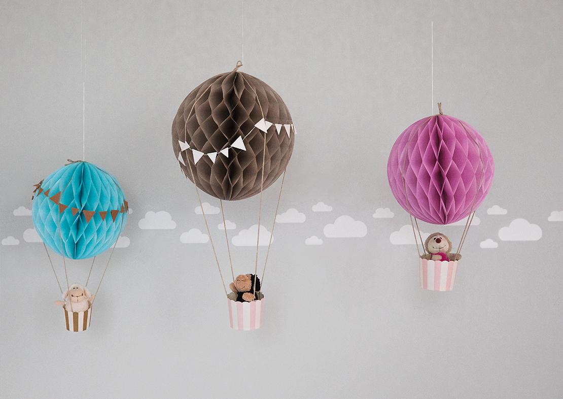 como hacer globos aerostaticos para decoracion