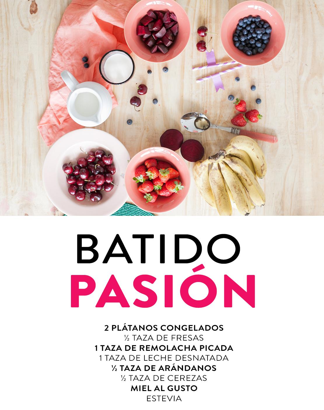 ingredientes batido rojo pasión