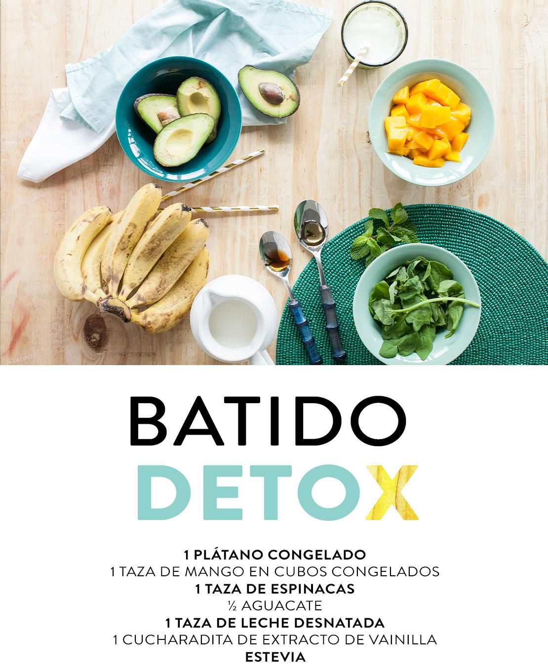 ingredientes batido detox verde