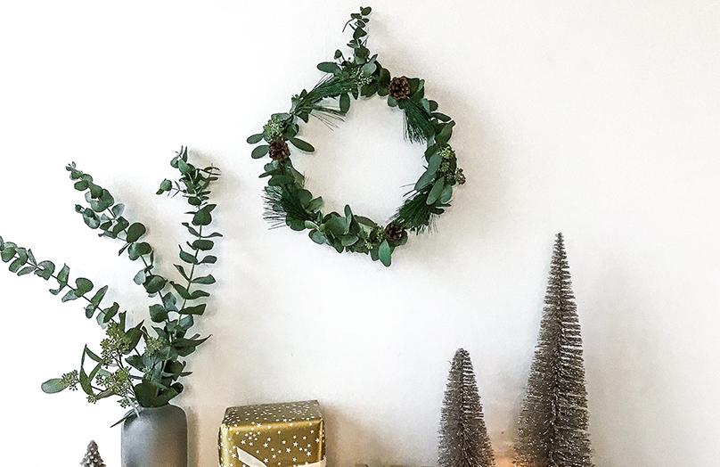 DIY Corona de Navidad