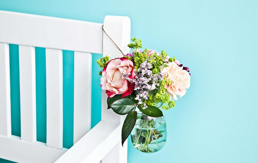 Bouquet de fleurs suspendu