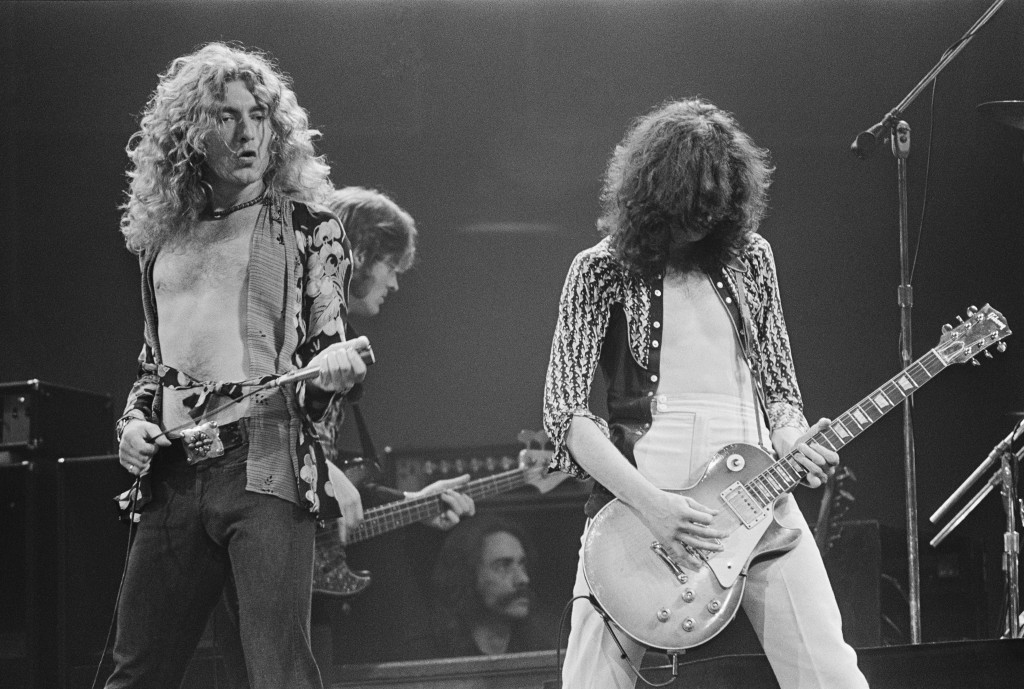 Led Zeppelin Performing in Concert