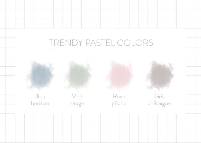 nuancier couleurs pastel