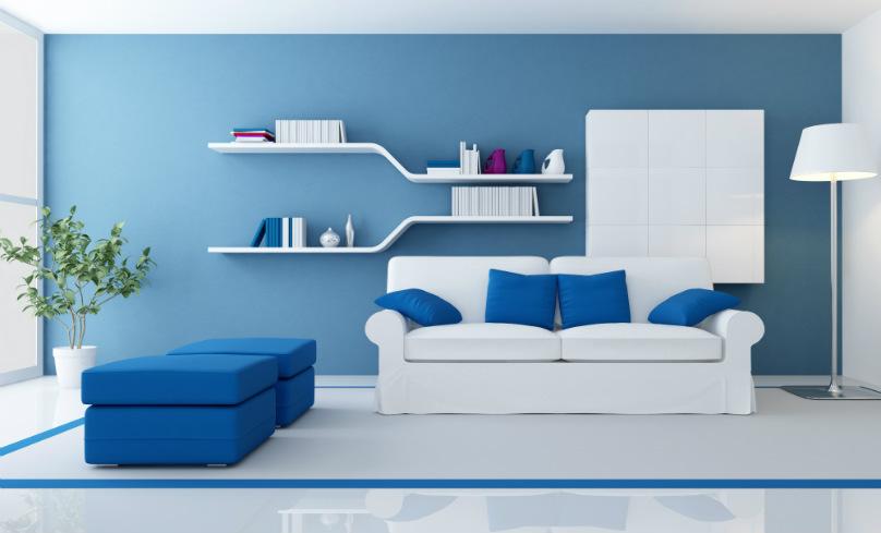 Du bleu en déco !