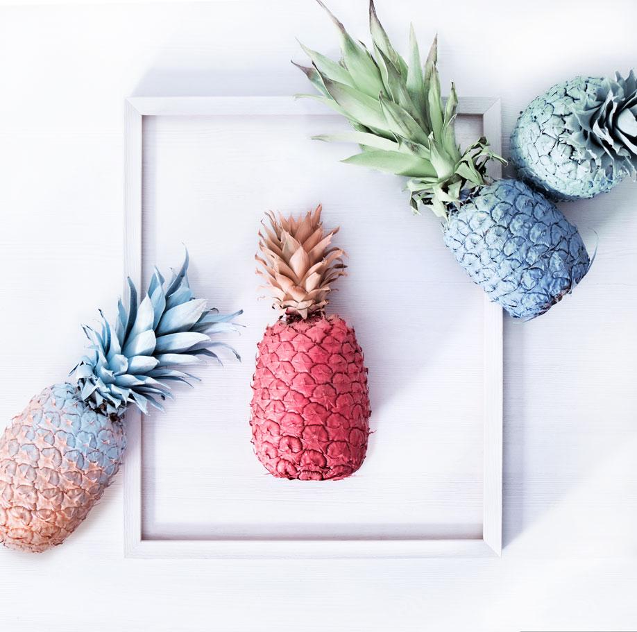La tendance ananas colorés