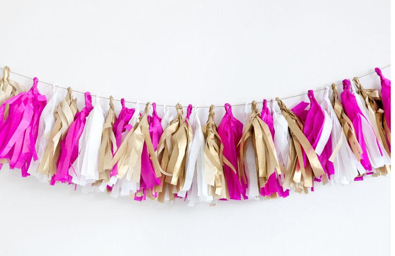 DIY – Guirlande de pompons en papier de soie