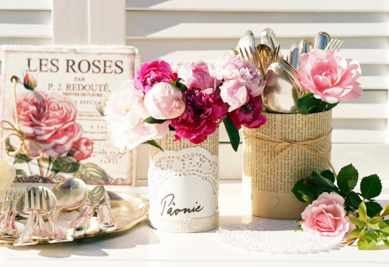 intérieur romantique : table