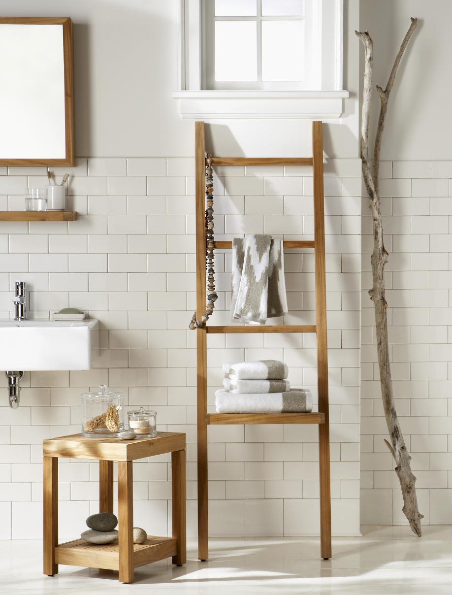 Une salle de bains pratique et charmante westwing - Badezimmer leiter ...