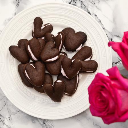 Biscuits en forme de cœur pour la Saint-Valentin