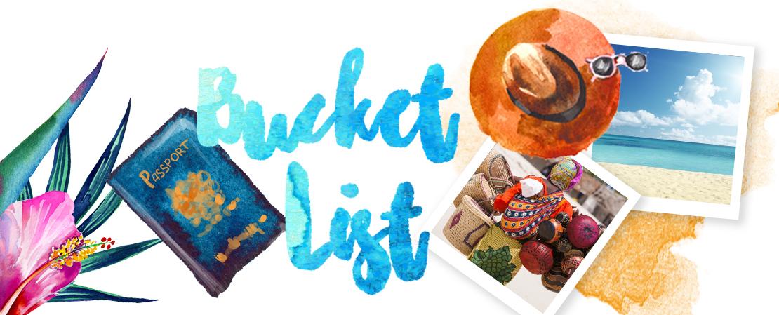 bucket list voyages vacances