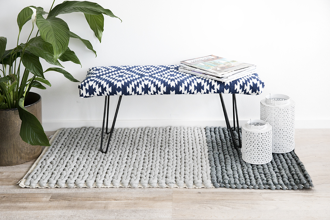 DIY banc customisation tapisserie tapis