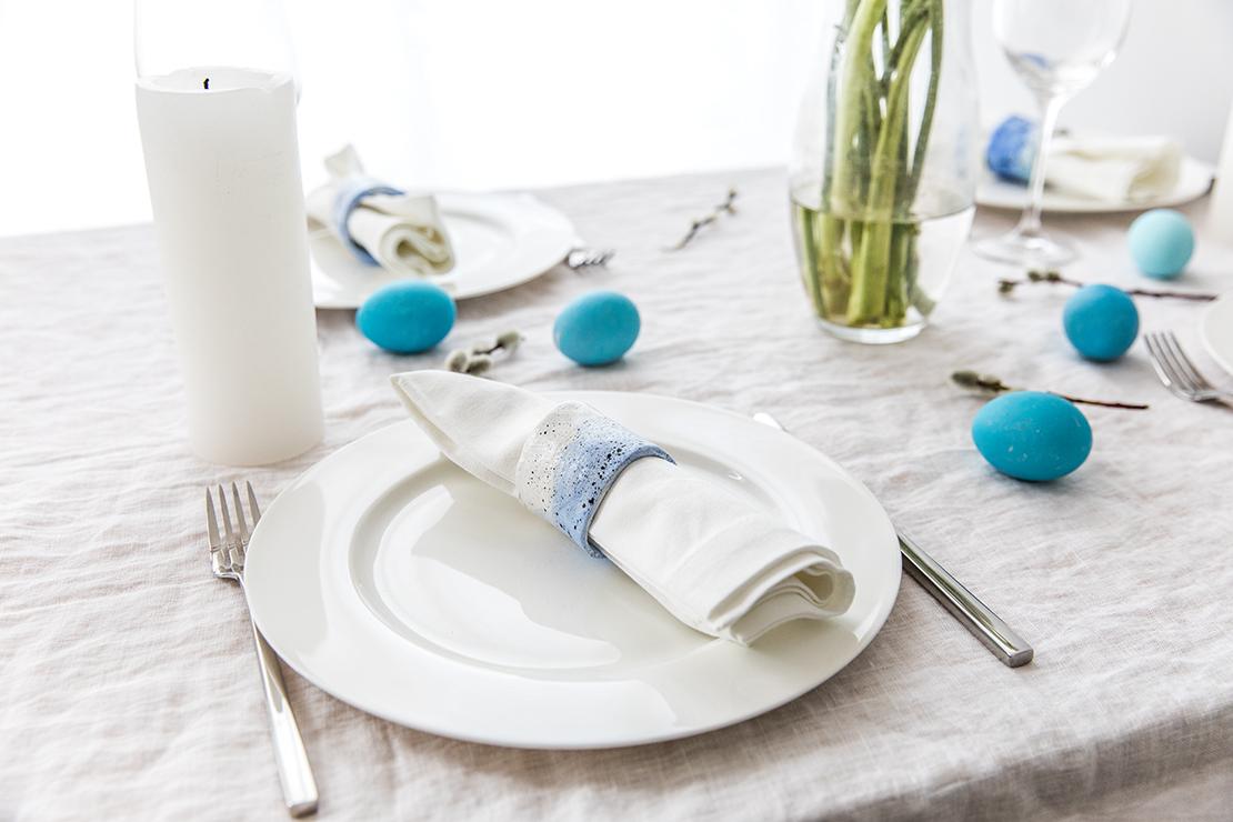 Déco table Pâques ronds de serviette DIY