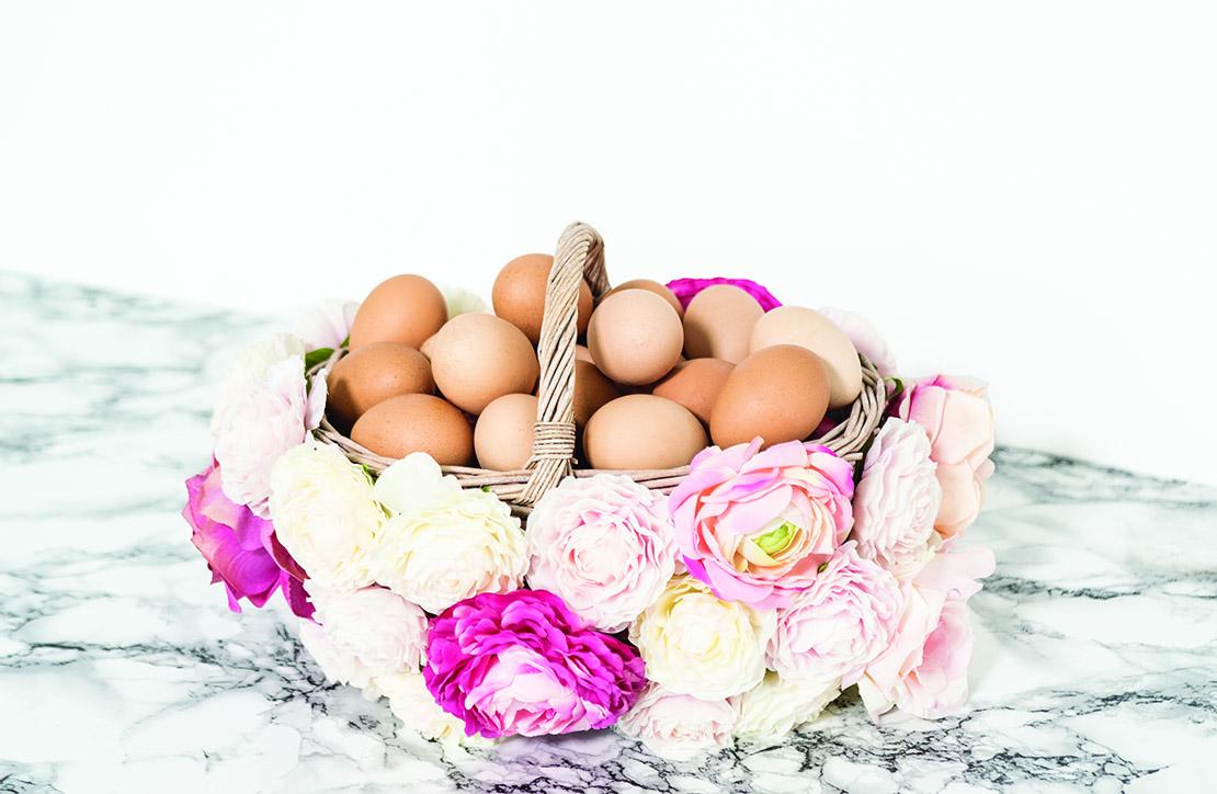 DIY panier osier fleurs Pâques