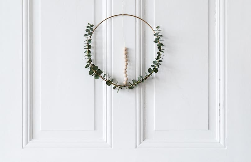DIY : Couronne de porte minimaliste pour Noël