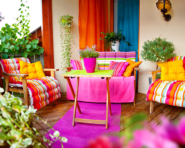 Balcony time dalani magazine for Balcony decoration ideas india