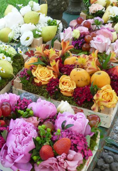 fiori e fragole