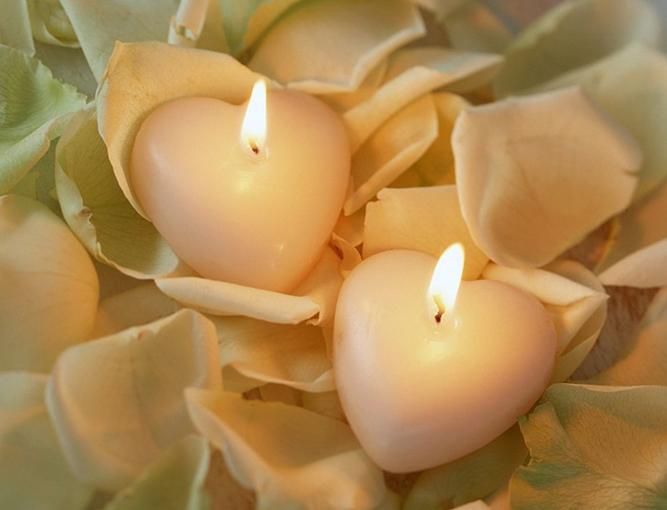 cuori candele