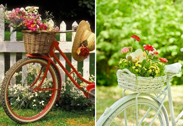 biciclette e fiori
