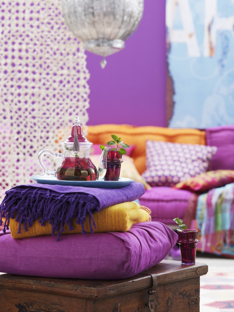 Bollywood, Casa, Colori, Living, India, Style