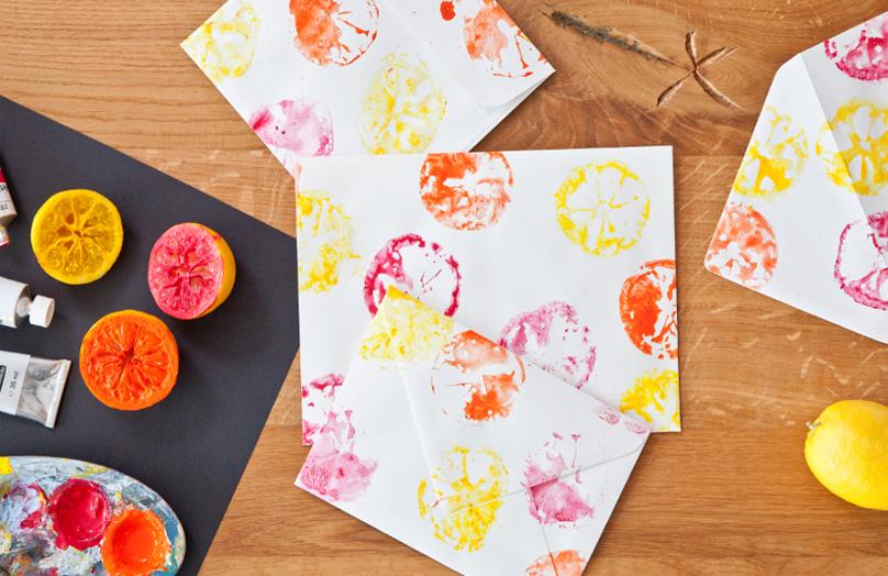 Buste da lettera colorate fai da te