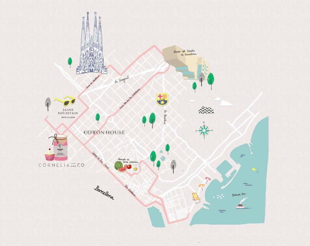 Style-Trip-a-Barcellona, Dalani, Style, City-Tour, Barcellona, Mappa, Percorso, Guida, Cosa-vedere