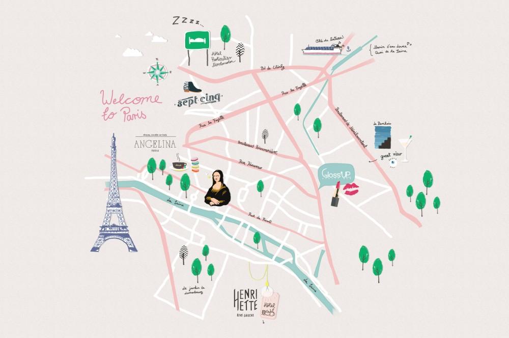 Cosa-vedere-a-Parigi, Dalani, Style, City-Tour, Parigi, Mappa, Percorso, Guida, Cosa-vedere, Indirizzi