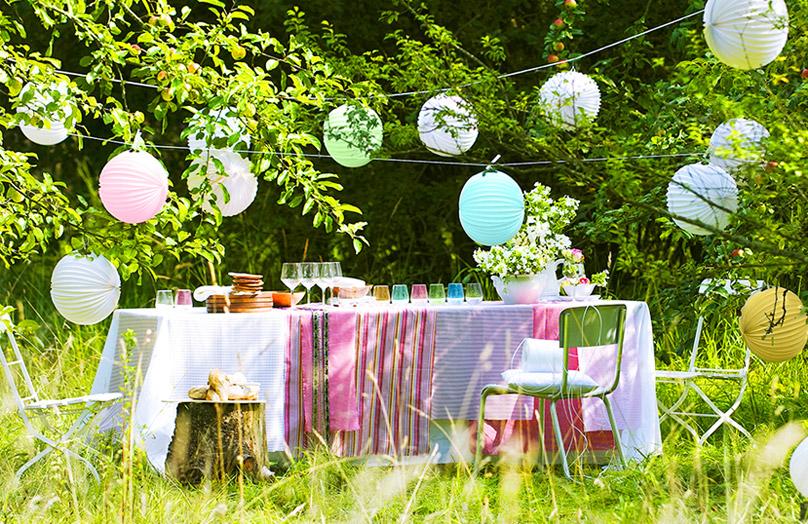 5 stili diversi per una festa in giardino