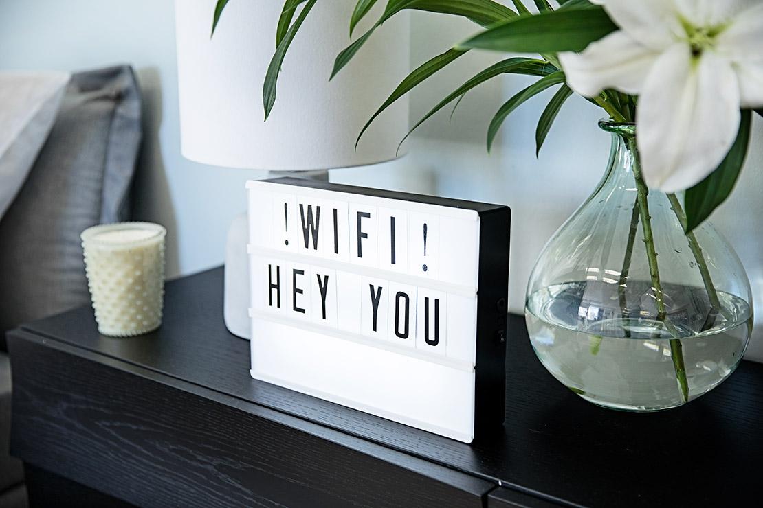 stanza degli ospiti wifi