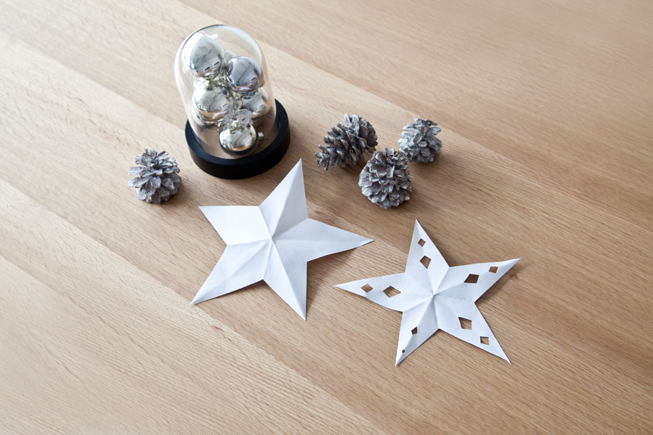 Decorare-con-le-stelle-di-carta, Decorazioni, Fai-da-te, Natale, Idee, Stelle-di-carta