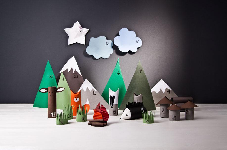 Calendario-dell-avvento-per-bambini, Natale, Decorazioni, Fai-da-te