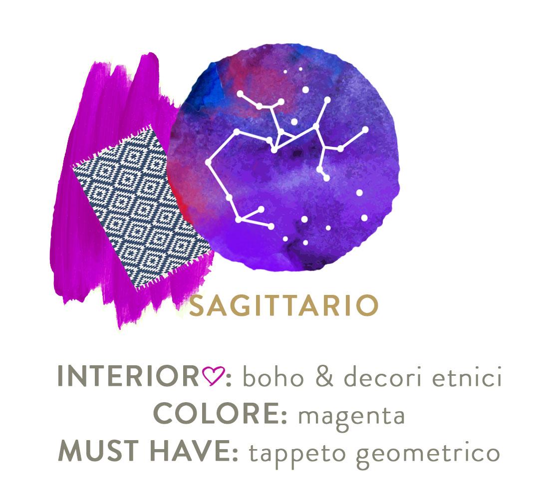 decorare casa secondo lo zodiaco sagittario