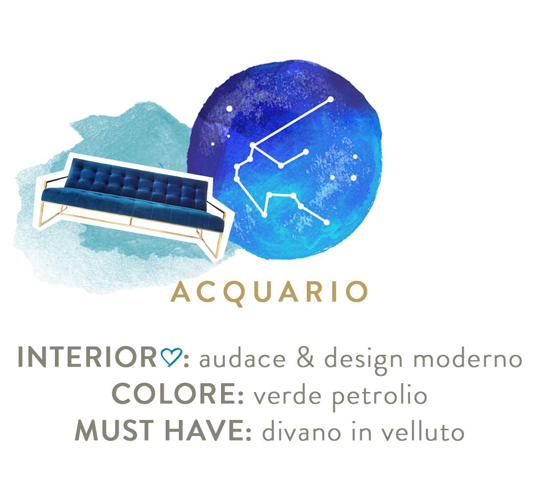decorare casa secondo lo zodiaco acquario