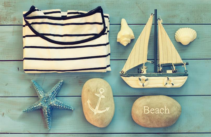 Vacanza in barca. Lo stile è coastal
