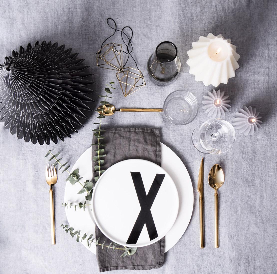 tavola feste grigio