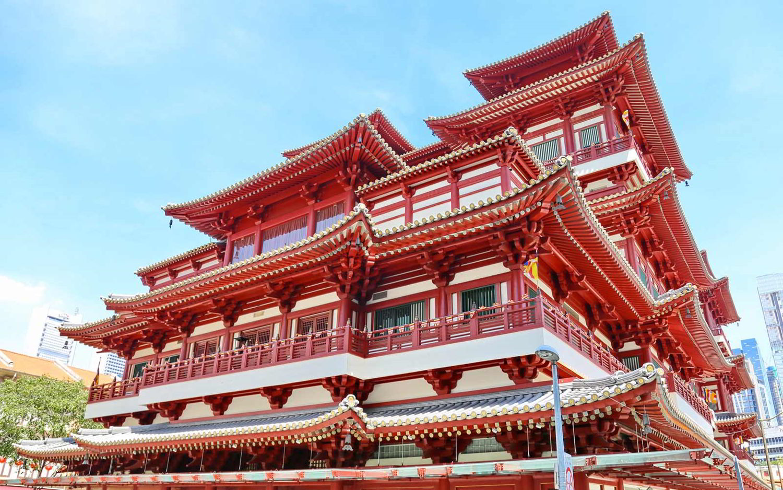 Singapore: Buddha Tooth Relic - Tempio buddhista e museo nel quartiere Chinatown.