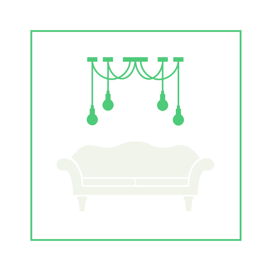 lampada divano