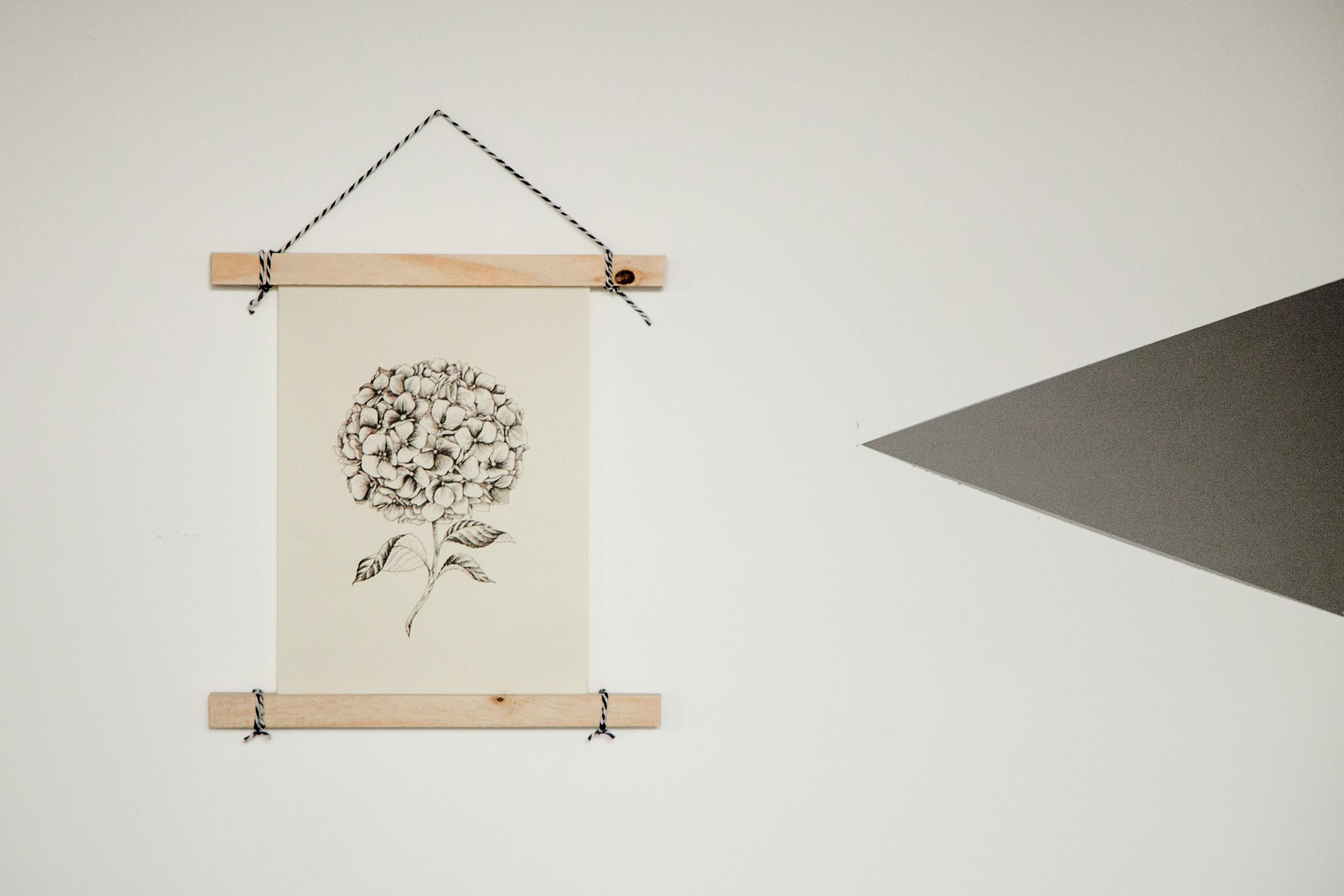 poster senza cornice legno