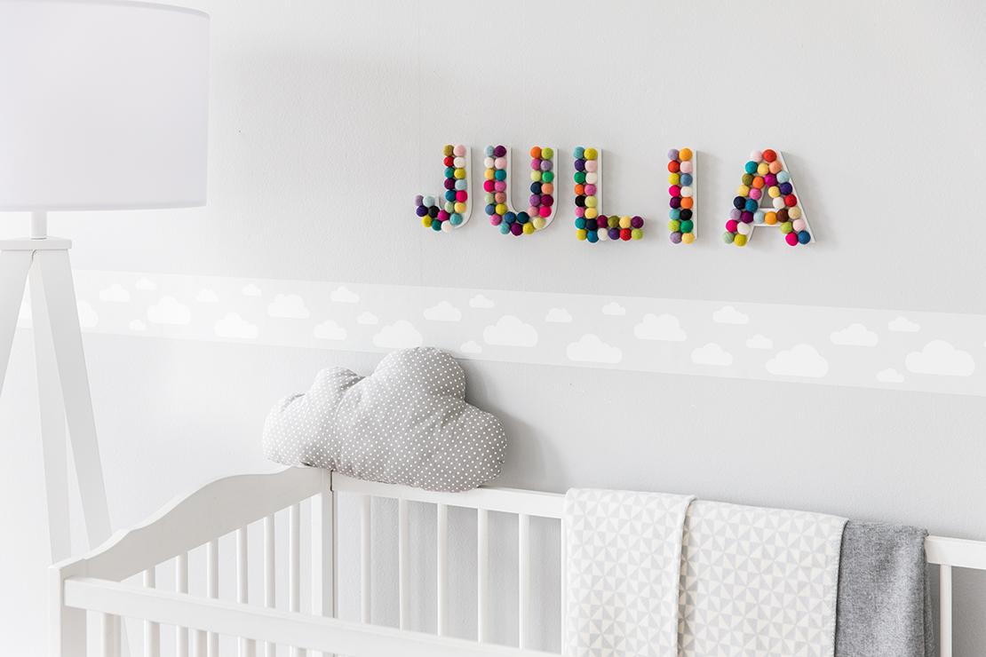 Decorazioni Per Camerette Per Bambini : Decorazioni per la cameretta dei bimbi nome da parete dalani
