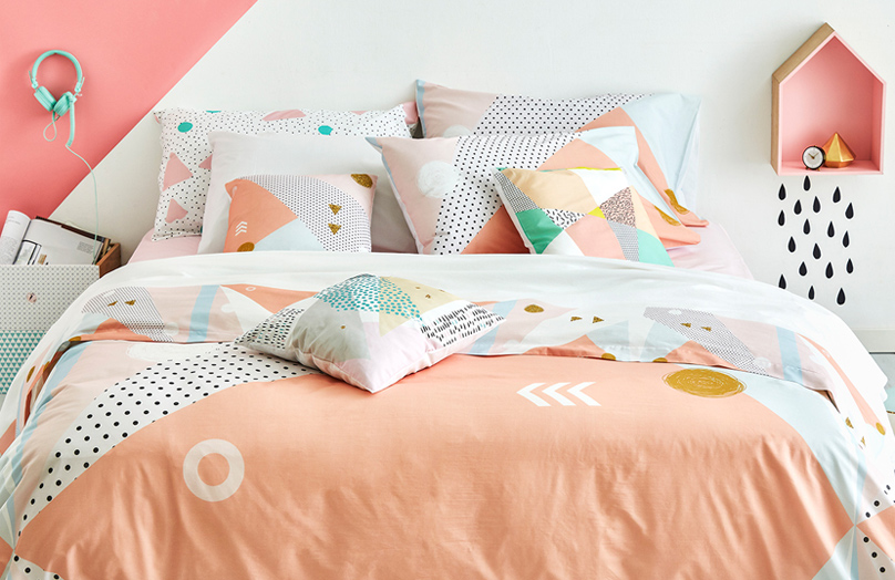 Il nuovo volto del letto trendy? Geometrico