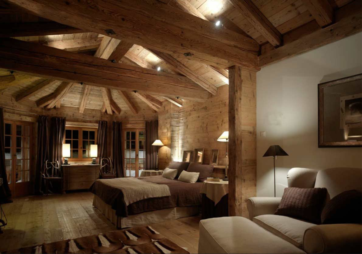 Chalet a saint moritz casa vacanze montagna alpi illuminazione