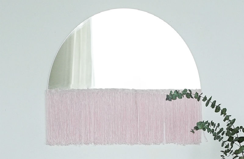 Specchio con frange - Idee originali