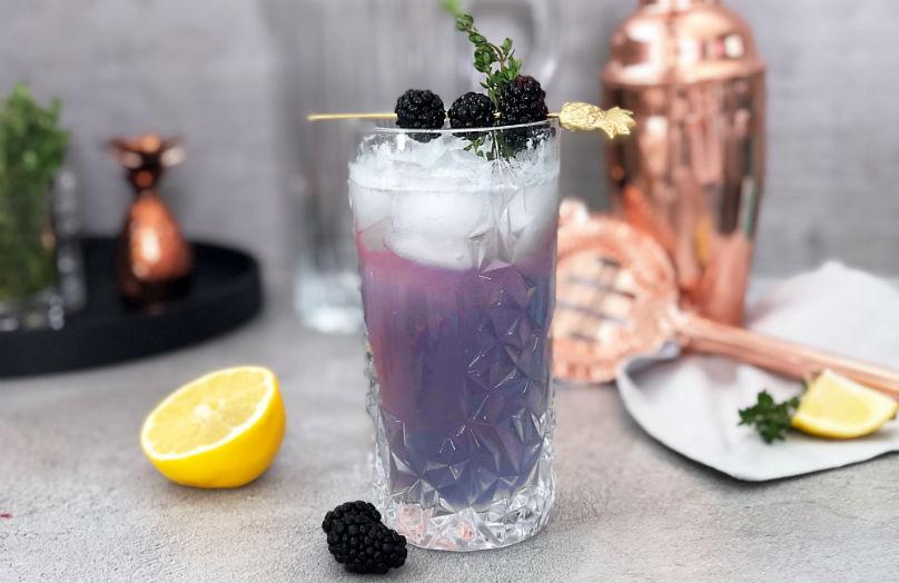 Gin fizz alle more - Ricetta