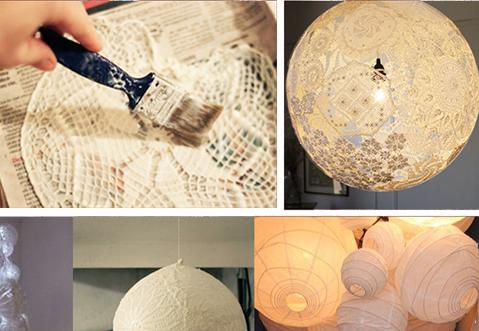 DIY: maak een romantische lamp van kant