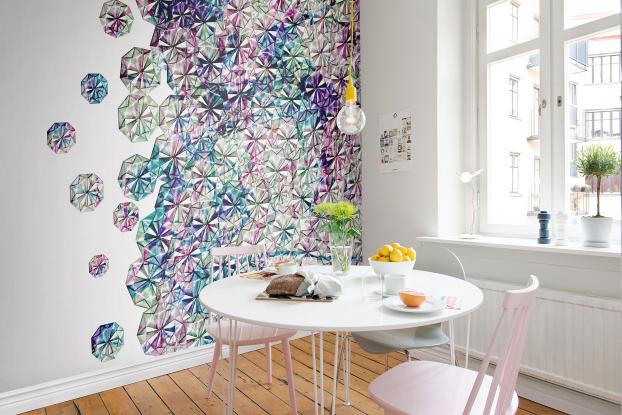 Keuken Behang 2014 : Invloeden uit Japan! Dit behang doet denken aan pentekeningen uit de