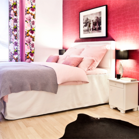 Een fashionable slaapkamer